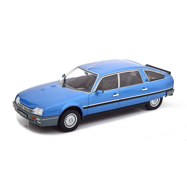 Model car Citroën CX 2500 Prestige Phase 2 1986 blue metallic 1:24