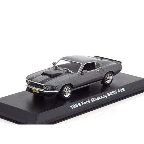 Ford Mustang Boss 429 1969 grijs metallic - Modelauto 1:43