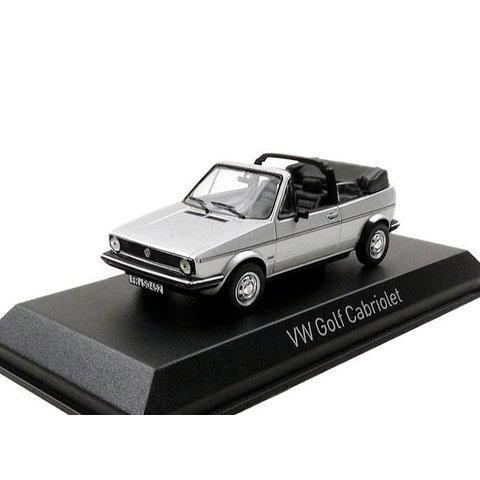 Volkswagen VW Golf Cabriolet 1981 zilver - Modelauto 1:43