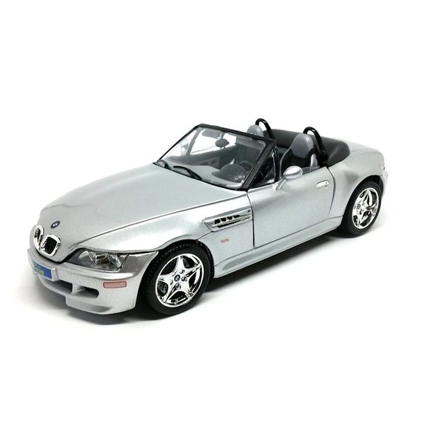 Modelauto BMW M Roadster 1998 zilver 1:18