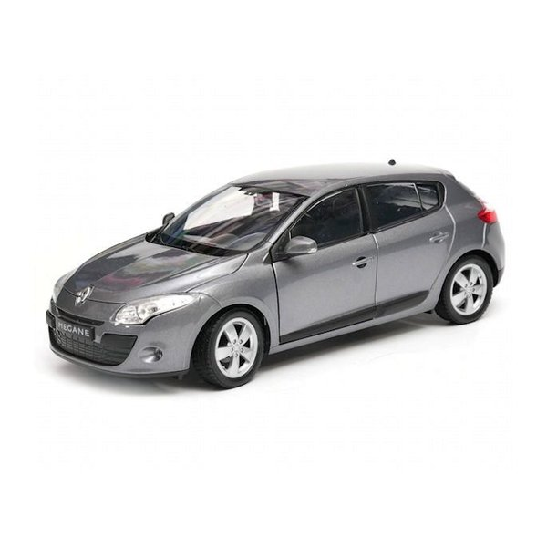 Model car Renault Megane 5-door 2009 grey metallic 1:24