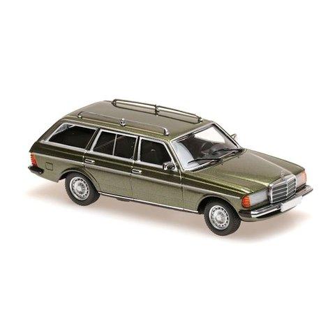 Mercedes Benz 230 TE (W123) 1982 groen metallic - Modelauto 1:43