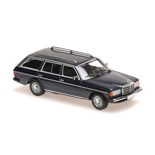 Modelauto Mercedes Benz 230 TE (W123) 1982 donkerblauw 1:43