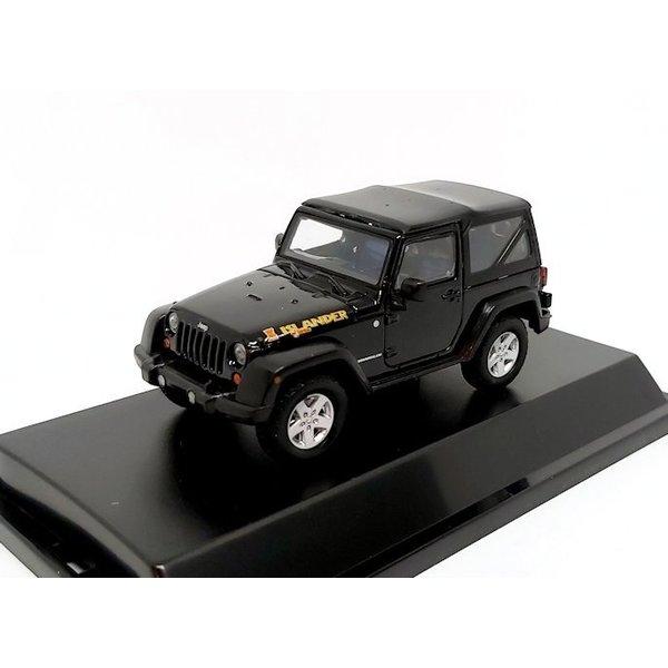 Modelauto Jeep Wrangler Islander Edition 2010 zwart 1:43