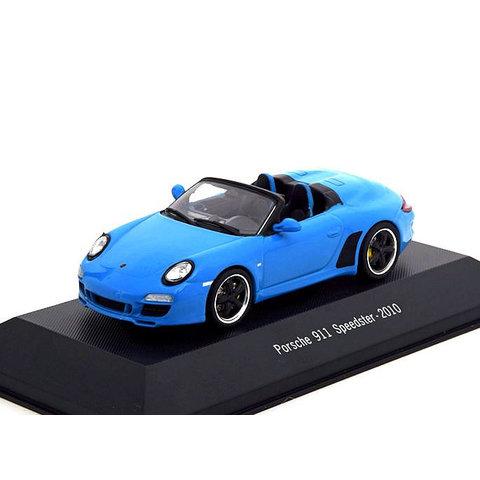 Porsche 911 Speedster (997) 2010 lichtblauw - Modelauto 1:43