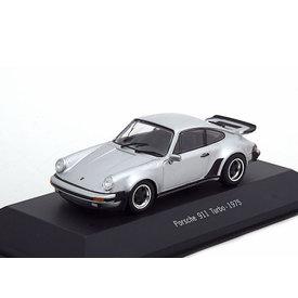 Atlas Porsche 911 Turbo (930) 1975 zilver - Modelauto 1:43