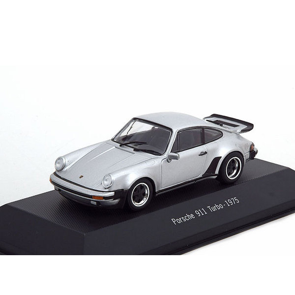 Modelauto Porsche 911 Turbo (930) 1975 zilver  1:43