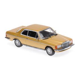 Maxichamps Mercedes Benz 230CE (W123) 1976 goud metallic - Modelauto 1:43