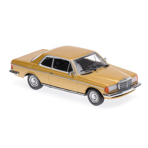 Mercedes Benz 230CE (W123) 1976 gold metallic - Modellauto 1:43