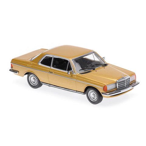 Mercedes Benz 230CE (W123) 1976 goud metallic - Modelauto 1:43