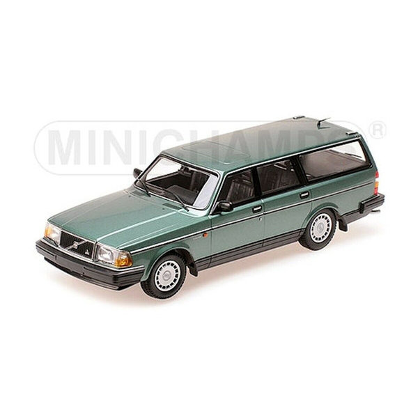Modellauto Volvo 240 GL Break 1986 grün metallic 1:18