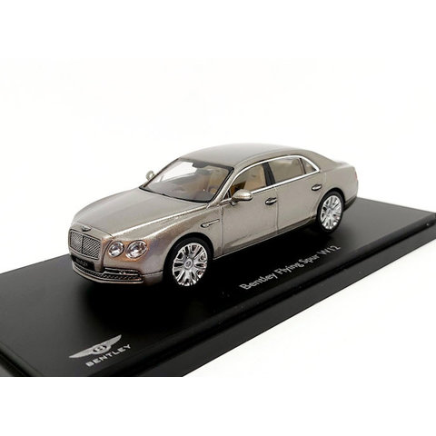 Bentley Flying Spur W12 parelmoerzilver - Modelauto 1:43