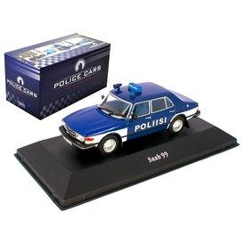 Atlas Saab 99 Polizei Finland 1974 - Modellauto 1:43