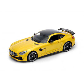 Welly Mercedes Benz AMG GT R geel - Modelauto 1:24