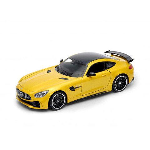 Mercedes Benz AMG GT R geel - Modelauto 1:24