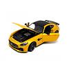 Model car Mercedes Benz AMG GT R yellow 1:24