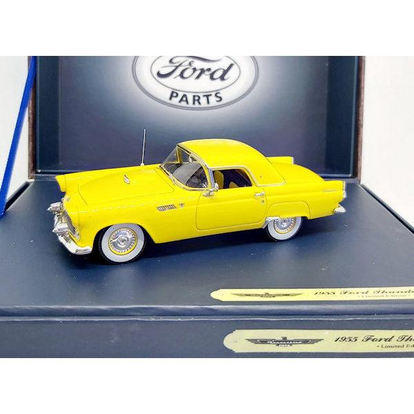 Model car Ford Thunderbird Coupe 1955 yellow 1:43 | Motorhead Miniatures