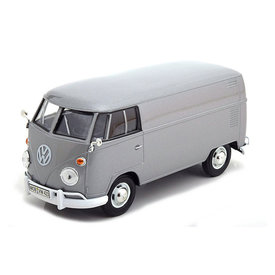 Motormax Volkswagen VW T1 type 2 Transporter zilver - Modelauto 1:24
