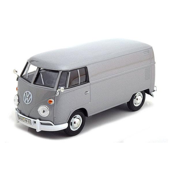 Model car Volkswagen VW T1 type 2 Delivery Van silver 1:24
