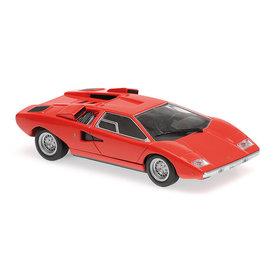 Maxichamps Lamborghini Countach 1970 rood - Modelauto 1:43