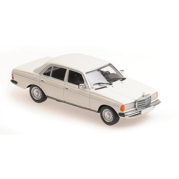 Modelauto Mercedes Benz 230E (W123) 1982 wit 1:43