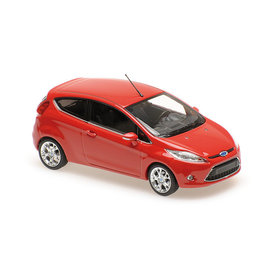 Maxichamps Ford Fiesta 2011 rood - Modelauto 1:43