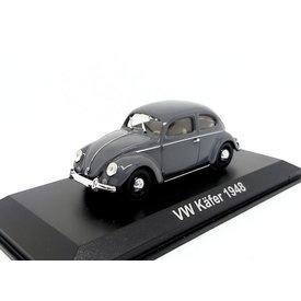 Atlas Volkswagen VW Kever 1948 grijs - Modelauto 1:43