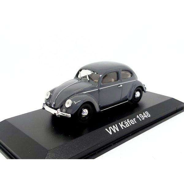 Modelauto Volkswagen VW Kever 1948 grijs 1:43