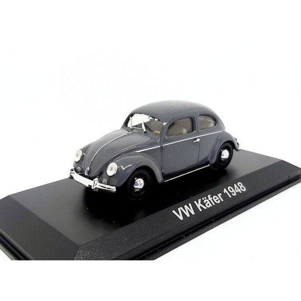 Modellauto Volkswagen VW Käfer 1948 grau 1:43