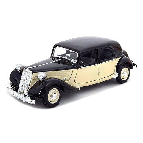 Citroën Traction Avant 15 Six 1952 zwart/creme - Modelauto 1:18