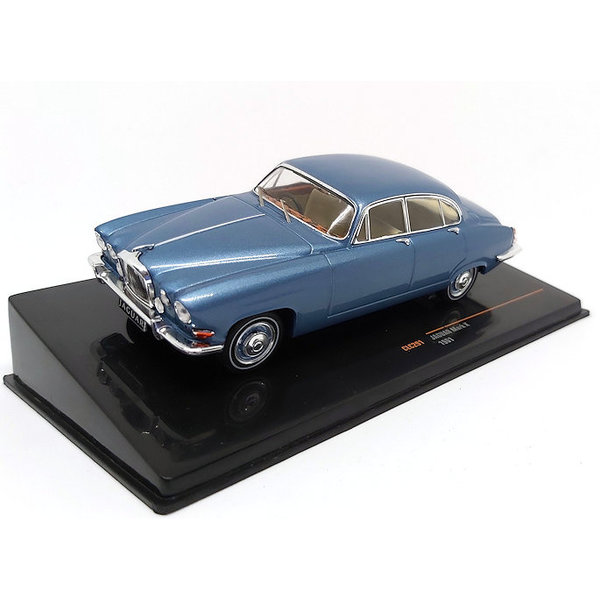 Model car Jaguar Mk X 1961 light blue metallic 1:43