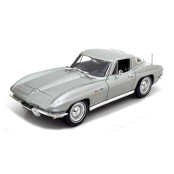 Modellauto Chevrolet Corvette 1965 silber 1:18