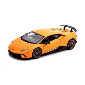 Bburago   Modelauto Lamborghini Huracan LP 640-4 Performante 2017 oranje 1:24