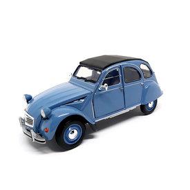 Welly Citroën 2CV blauw - Modelauto 1:24