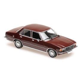 Maxichamps Opel Rekord D 1975 dark red - Model car 1:43