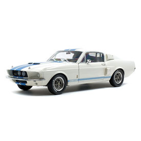 Solido Shelby Ford Mustang GT500 1967 wit/blauw - Modelauto 1:18