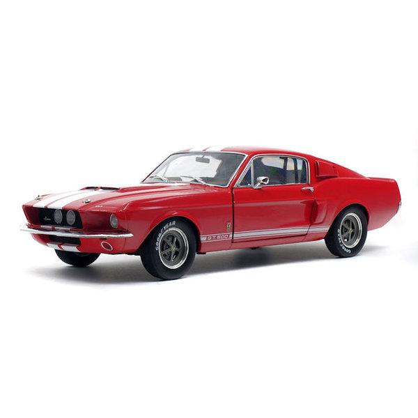 Modellauto Shelby Ford Mustang GT500 1967 rot/weiß 1:18