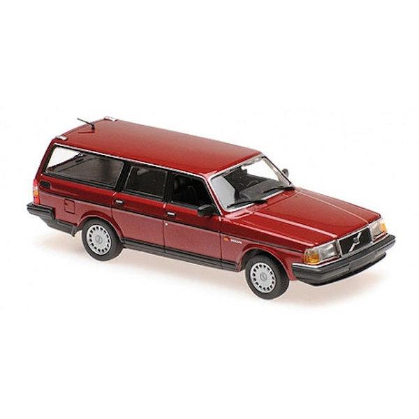 Model car Volvo 240 GL Break 1986 dark red metallic 1:43