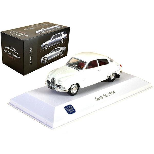 Model car Saab 96 1964 white 1:43