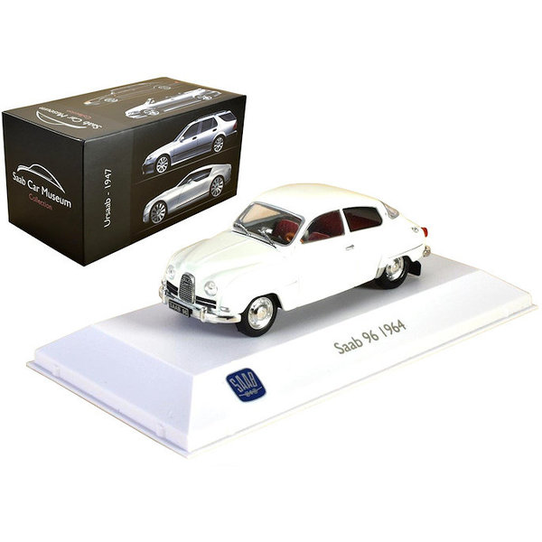 Modelauto Saab 96 1964 wit 1:43 | Atlas (Editions Atlas)