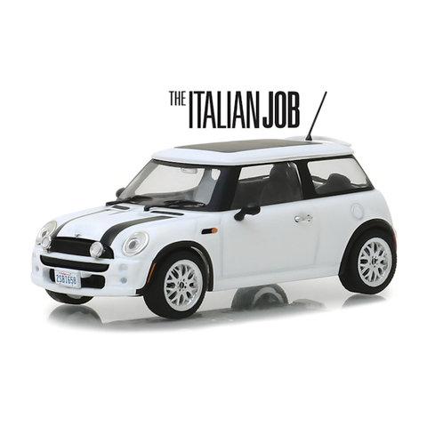 Mini Cooper S 2003 `The Italien Job 2003` weiß/schwarz - Modellauto 1:43