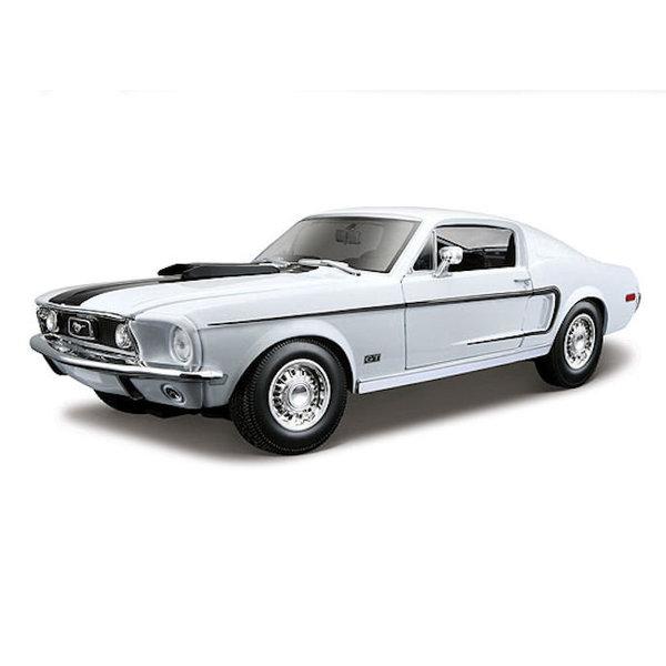 Modelauto Ford Mustang GT Cobra Jet 1968 wit 1:18 | Maisto