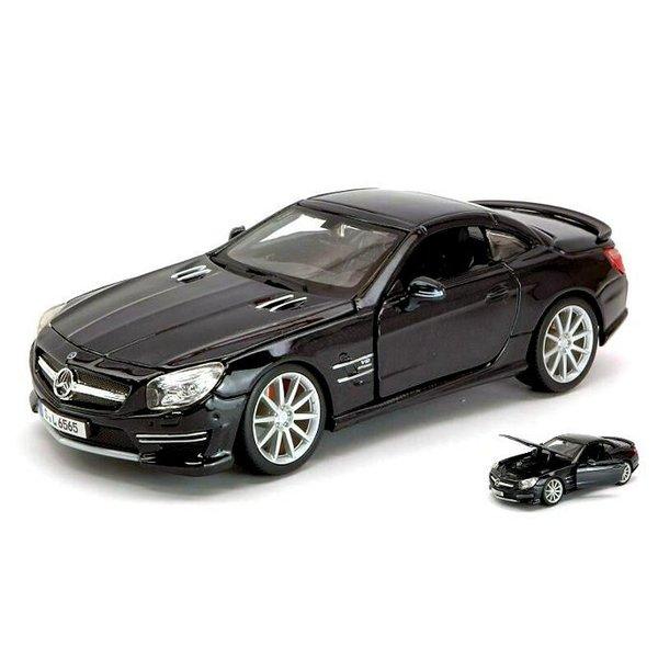 Modellauto Mercedes Benz SL 65 AMG Hardtop schwarz 1:24
