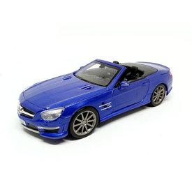 Maisto Mercedes Benz SL 63 AMG blauw - Modelauto 1:24