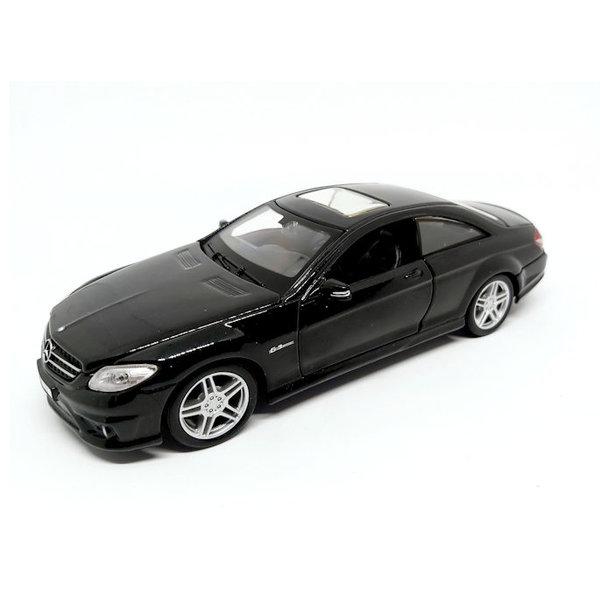 Modellauto Mercedes Benz CL 63 AMG schwarz 1:24