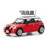 Modelauto Mini Cooper S `The Italien Job 2003` rood/wit 1:43   Greenlight