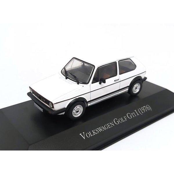 Modellauto Volkswagen VW Golf GTI 1976 weiß 1:43