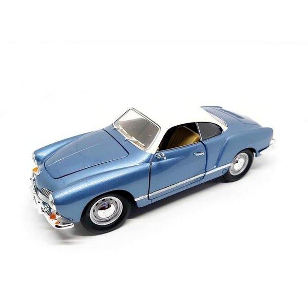 Model car Volkswagen VW Karmann Ghia 1966 blue metallic 1:18
