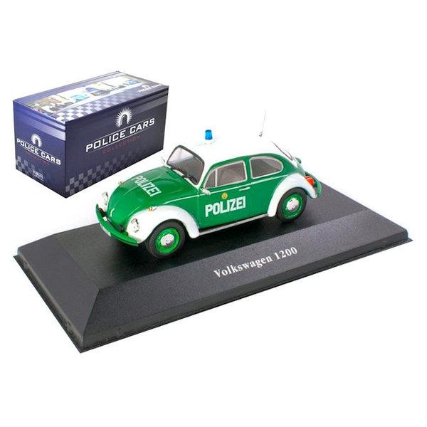 Modelauto Volkwagen VW Kever 1200  Politie Duitsland 1977 1:43