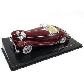 Ixo Models Mercedes Benz 540K Special Roadster 1936 donkerrood - Modelauto 1:43